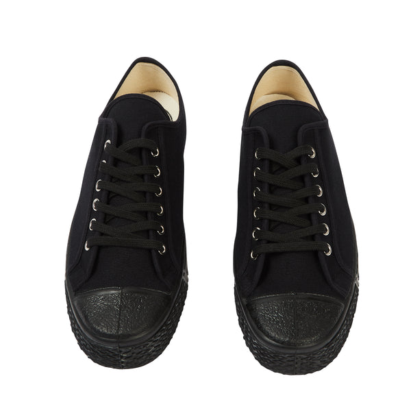 US Rubber Military Low Top - Black - Burrows and Hare