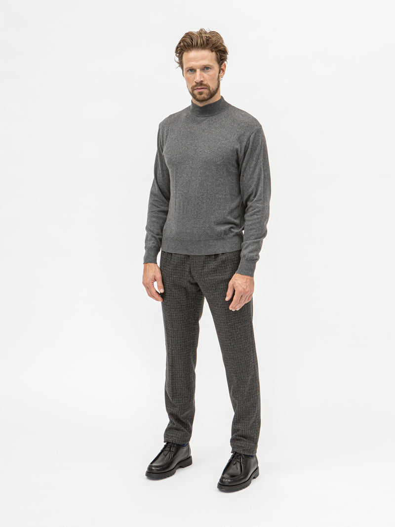 Burrows and Hare Mock TurtleNeck - Grey - Burrows and Hare