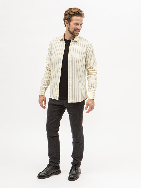 Burrows & Hare Stripe Shirt - Yellow - Burrows and Hare