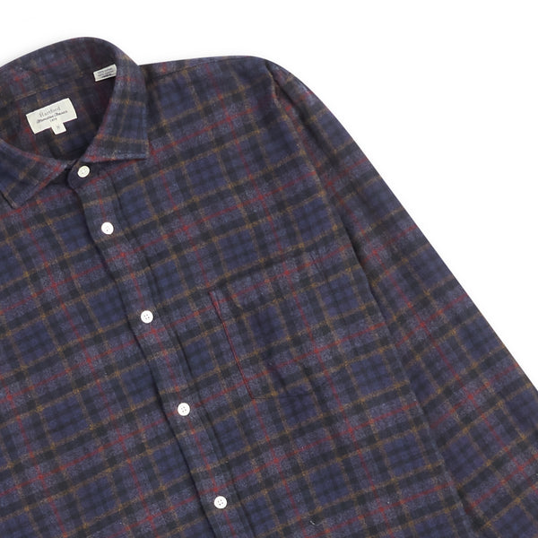 Hartford Paul Shirt - Navy Check - Burrows and Hare