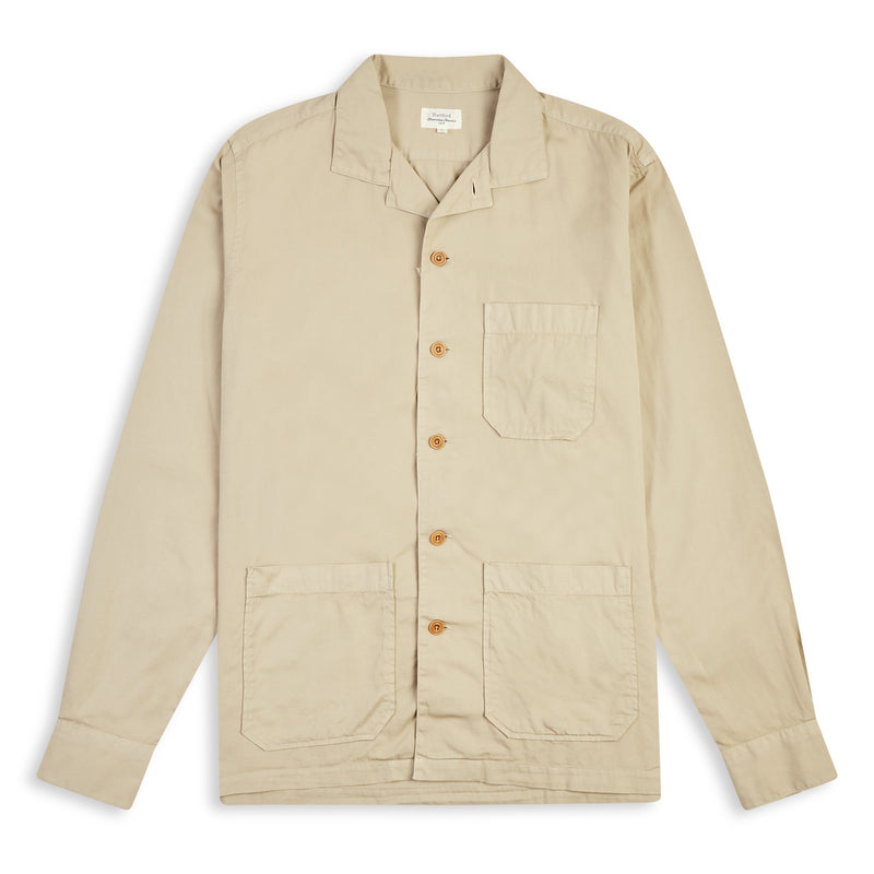 Hartford Parker Pat Overshirt -  Khaki - Burrows and Hare