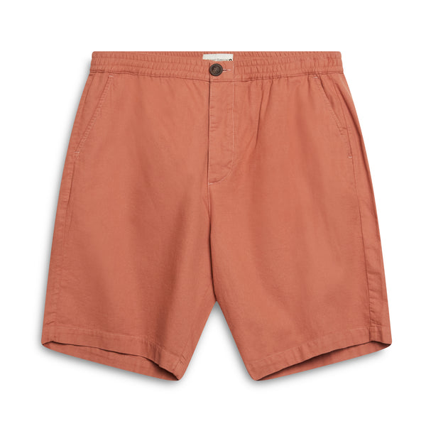 Oliver Spencer Drawstring Shorts - Salmon - Burrows and Hare