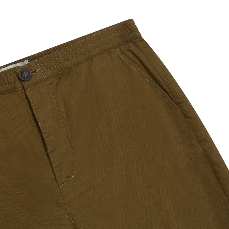 Oliver Spencer Drawstring Shorts - Olive Green - Burrows and Hare