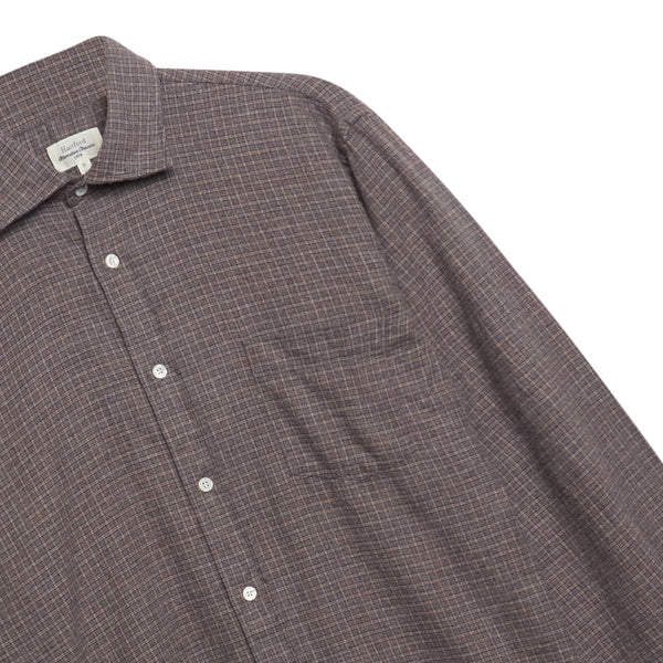 Hartford Paul Shirt - Grey Check - Burrows and Hare