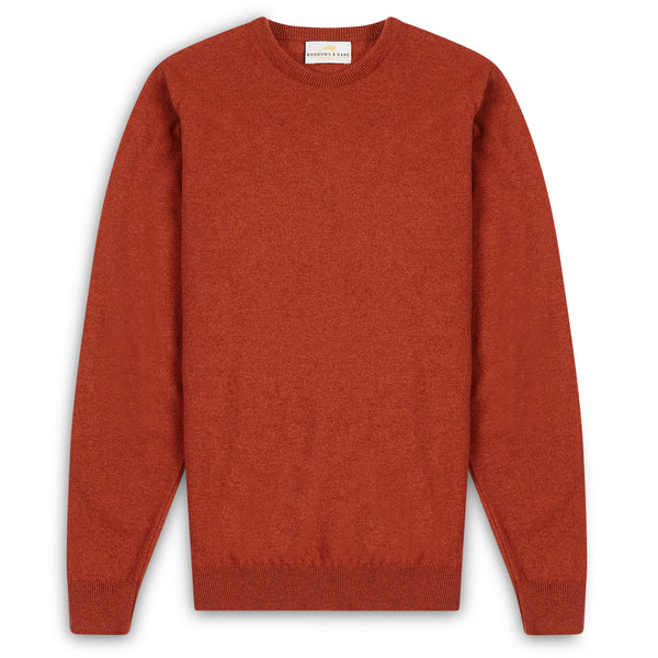 Burrows & Hare Scottish Lambs Wool Crew Neck Jumper - Tiger - Burrows and Hare