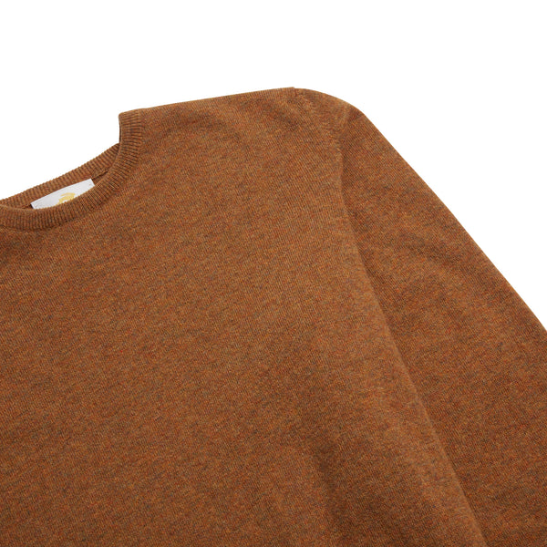 Burrows & Hare Scottish Lambs Wool Crew Neck Jumper - Savanah - Burrows and Hare