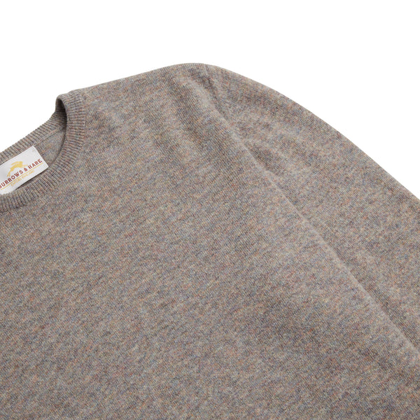 Burrows & Hare Scottish Lambs Wool Crew Neck Jumper - Marble - Burrows and Hare