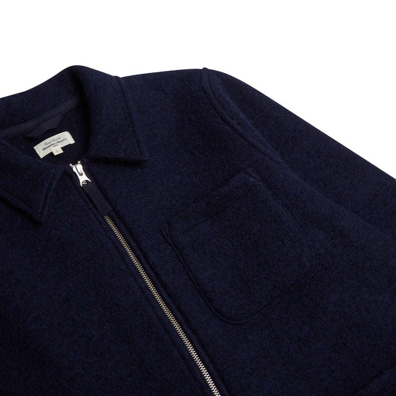 Hartford Work Zip Jacket - Navy - Burrows and Hare
