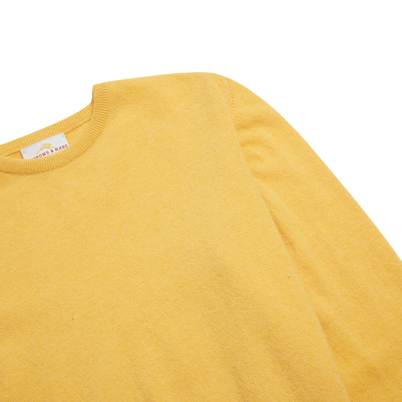 Burrows & Hare Scottish Lambs Wool Crew Neck Jumper - Honeydew - Burrows and Hare