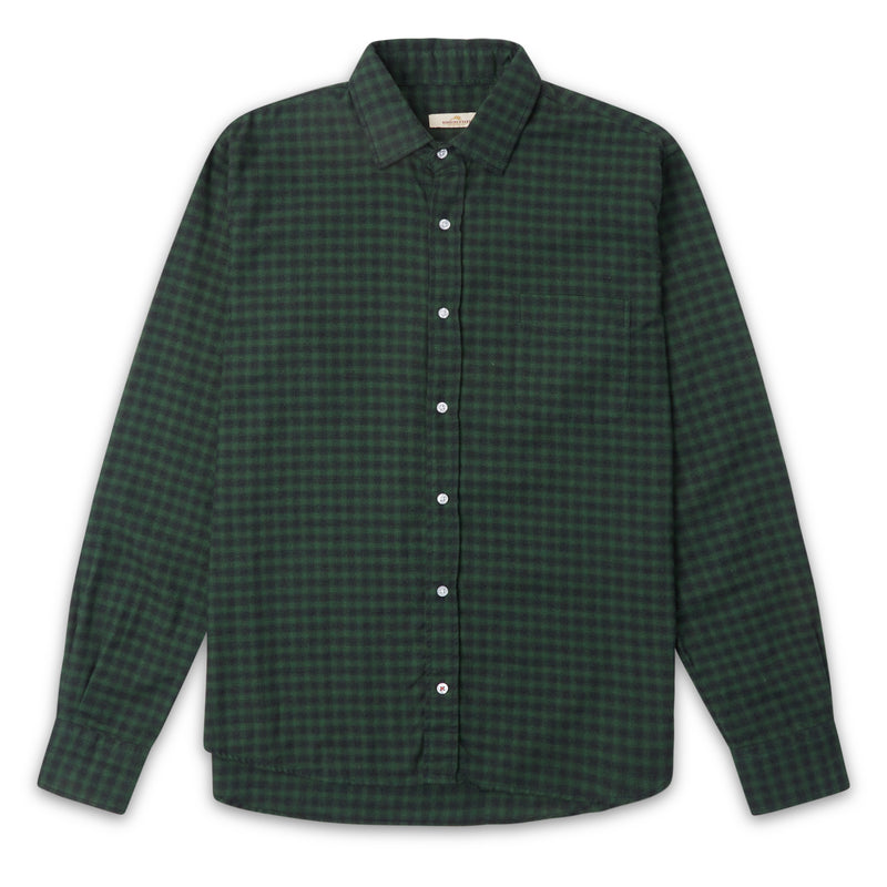 Burrows & Hare Gingham Shirt - Green - Burrows and Hare