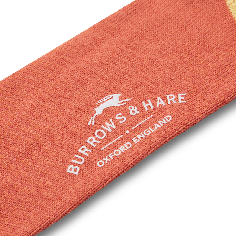 Burrows & Hare Fourway Socks - Orange - Burrows and Hare