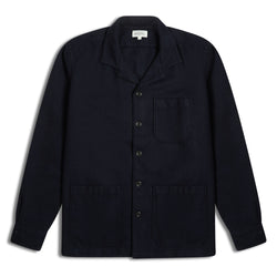 Hartford Parker Pat Jacket - Navy Wool - Burrows and Hare