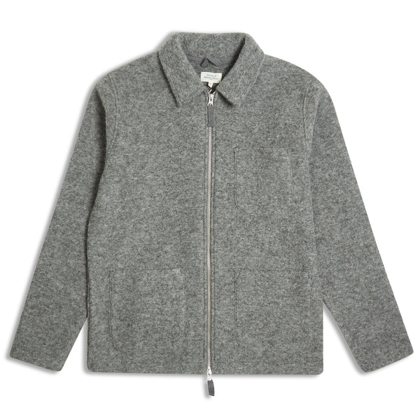 Hartford Work Zip Jacket Grey - Burrows and Hare
