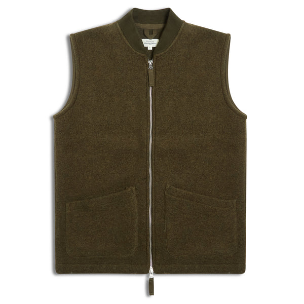 Hartford Sleeveless Jacket - Green - Burrows and Hare