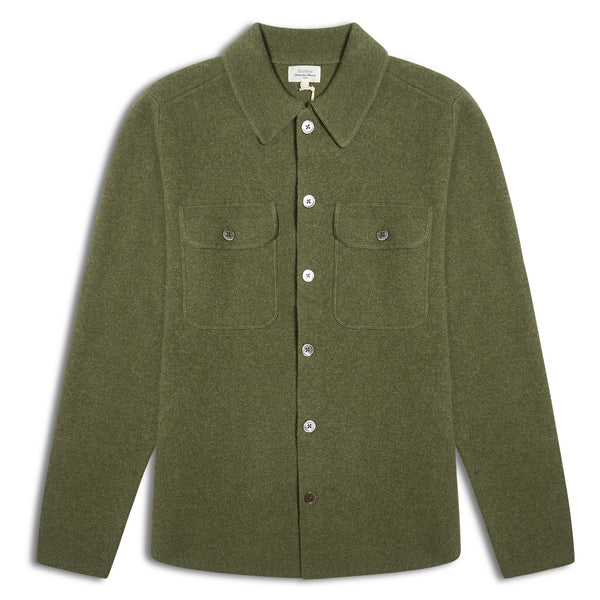 Hartford Full Needle Jacket - Green - Burrows and Hare