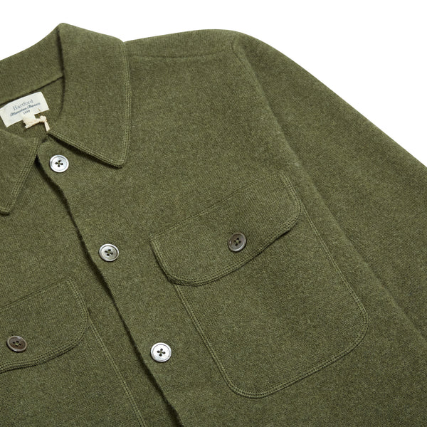 Hartford Full Needle Jacket- Green - Burrows and Hare