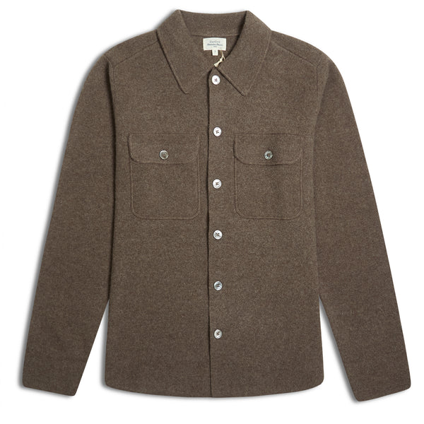 Hartford Full Needle Jacket - Brown - Burrows and Hare