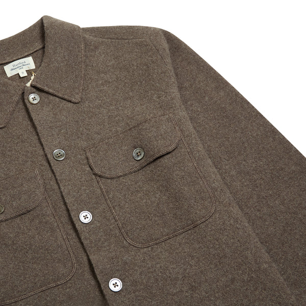 Hartford Full Needle Jacket- Brown - Burrows and Hare