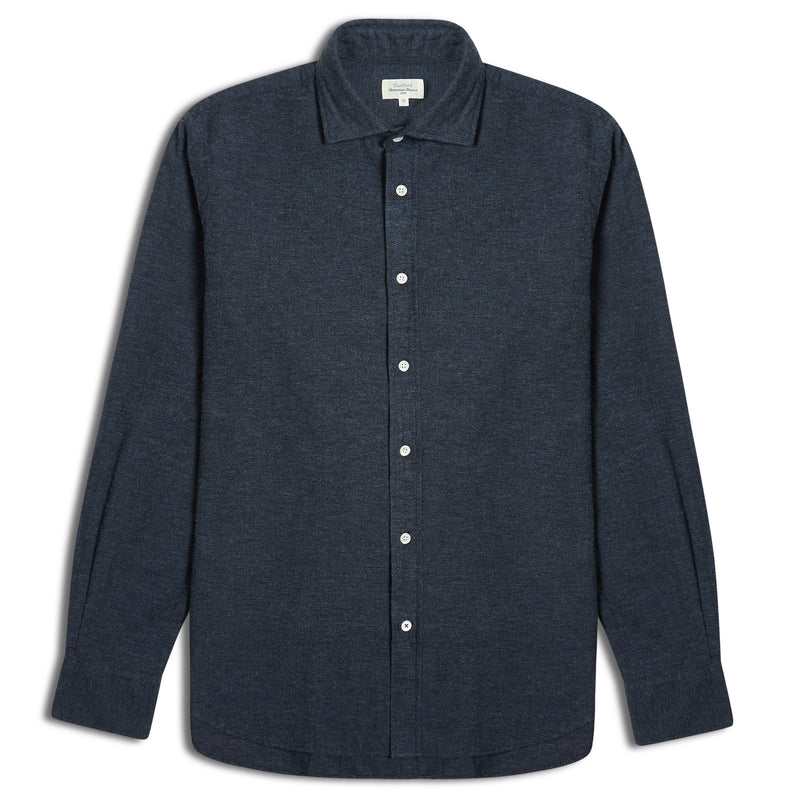 Hartford Paul Shirt Navy - Burrows and Hare