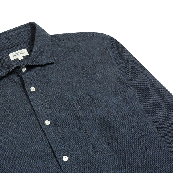 Hartford Paul Shirt - Navy - Burrows and Hare