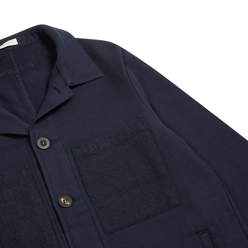 A.B.C.L. Service Jacket Tweedy Cotton - Burrows and Hare