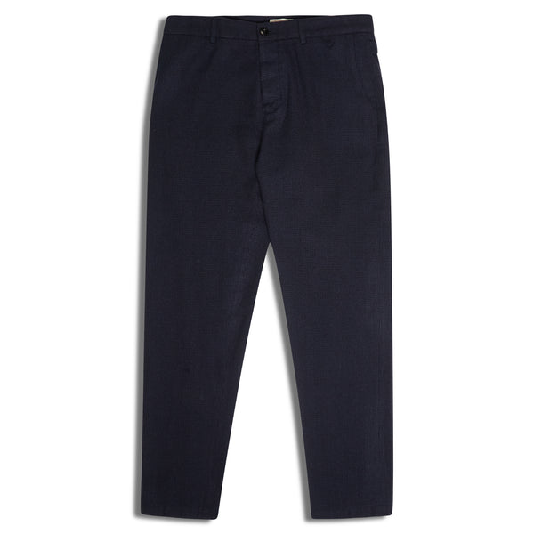 A.B.C.L. Officer Pant Wool - Navy - Burrows and Hare