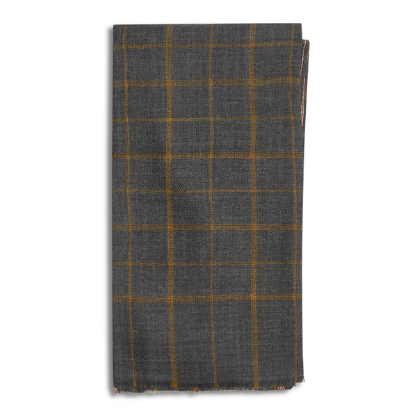 Hartford Scarf Grey Check - Burrows and Hare