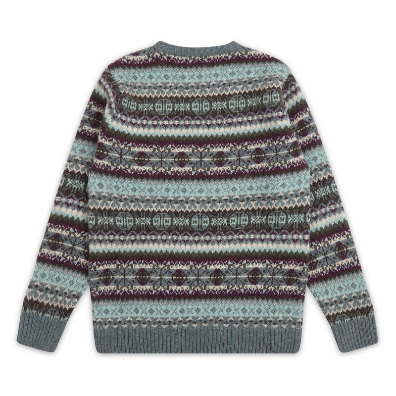 Burrows & Hare Fairisle Jumper - Green - Burrows and Hare
