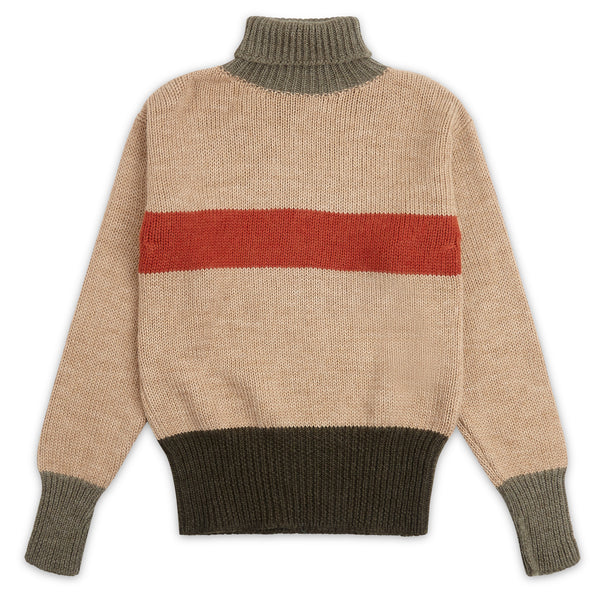 Nigel Cabourn George Lowe Roll Neck Jumper - Burrows and Hare