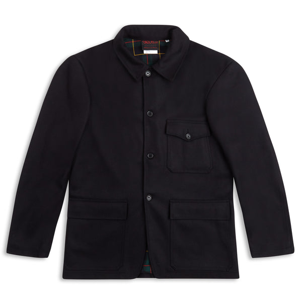 Vetra Lined Melton Jacket - Deep Navy - Burrows and Hare