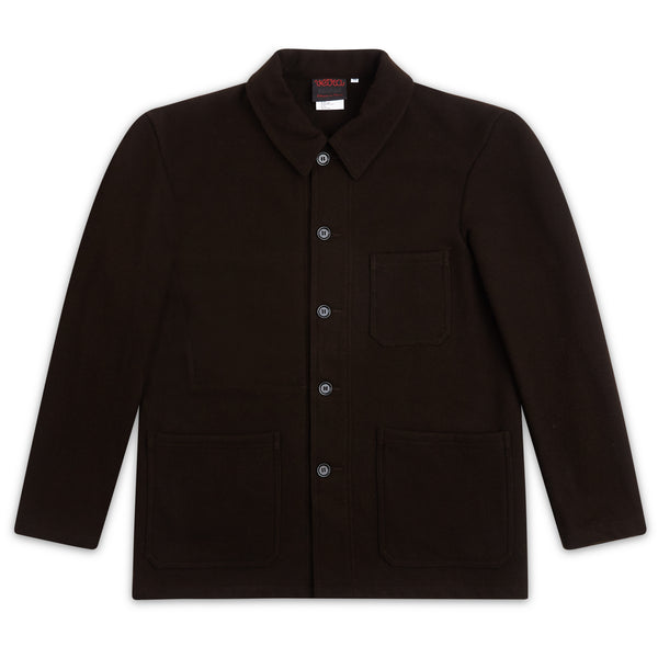 Vetra Soft Melton Jacket - Brown - Burrows and Hare