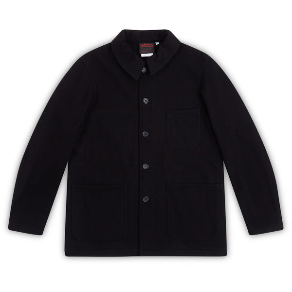 Vetra Soft Melton Jacket - Navy - Burrows and Hare