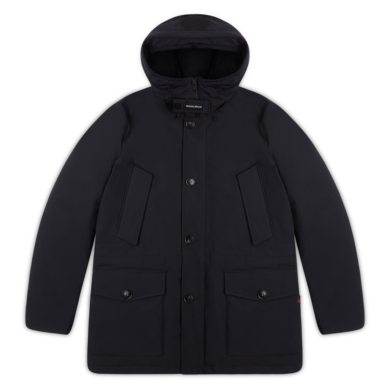 Woolrich Tech Stretch Parka - Black - Burrows and Hare