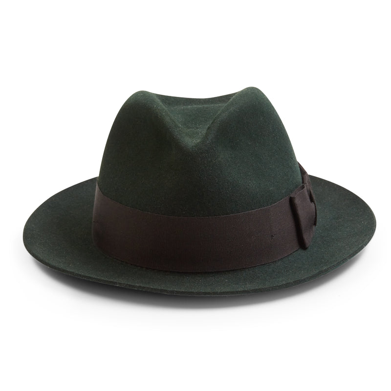 Christys' Bond Fur Trilby Hat - Moss - Burrows and Hare
