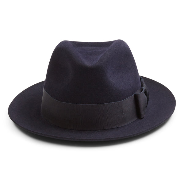 Christys' Bond Fur Trilby Hat - Navy - Burrows and Hare