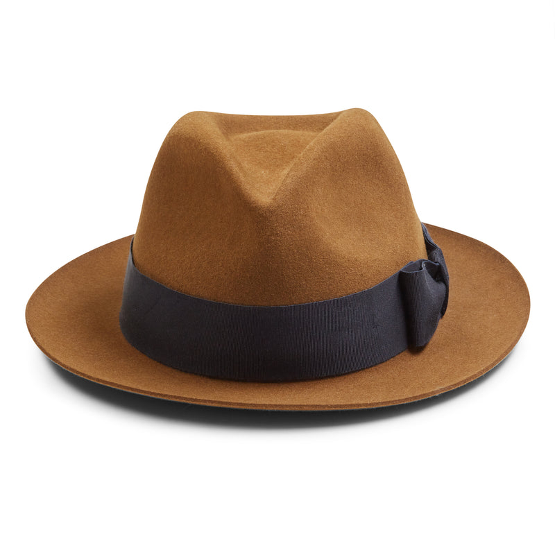 Christys' Bond Fur Trilby Hat - Brown - Burrows and Hare