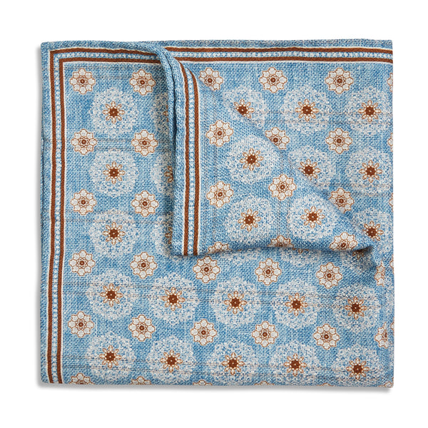 Rosi Collection Pocket Hanky - Sky Blue - Burrows and Hare