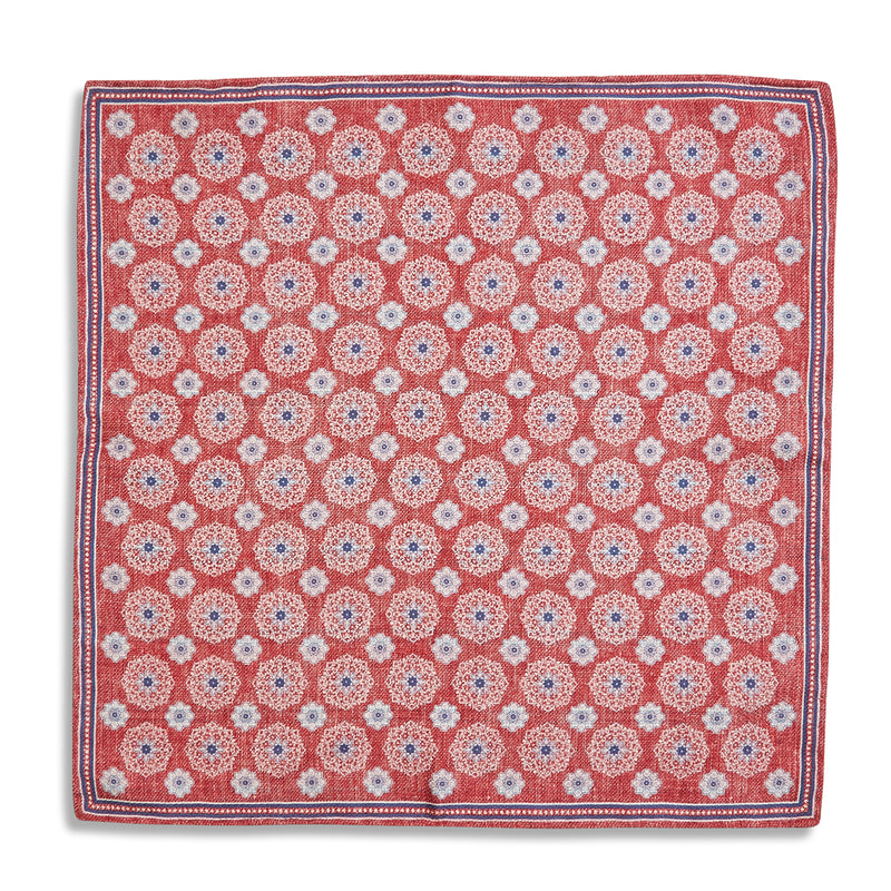 Rosi Collection Pocket Hanky - Floral Red - Burrows and Hare