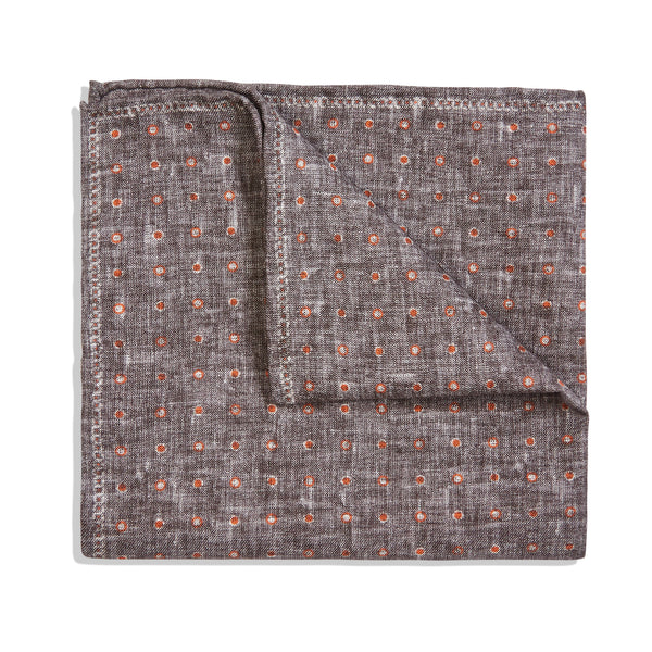 Rosi Collection Pocket Hanky - Polka Dot Grey - Burrows and Hare