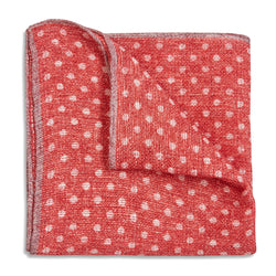 Rosi Collection Pocket Hanky Linen - Polka Dot Red - Burrows and Hare