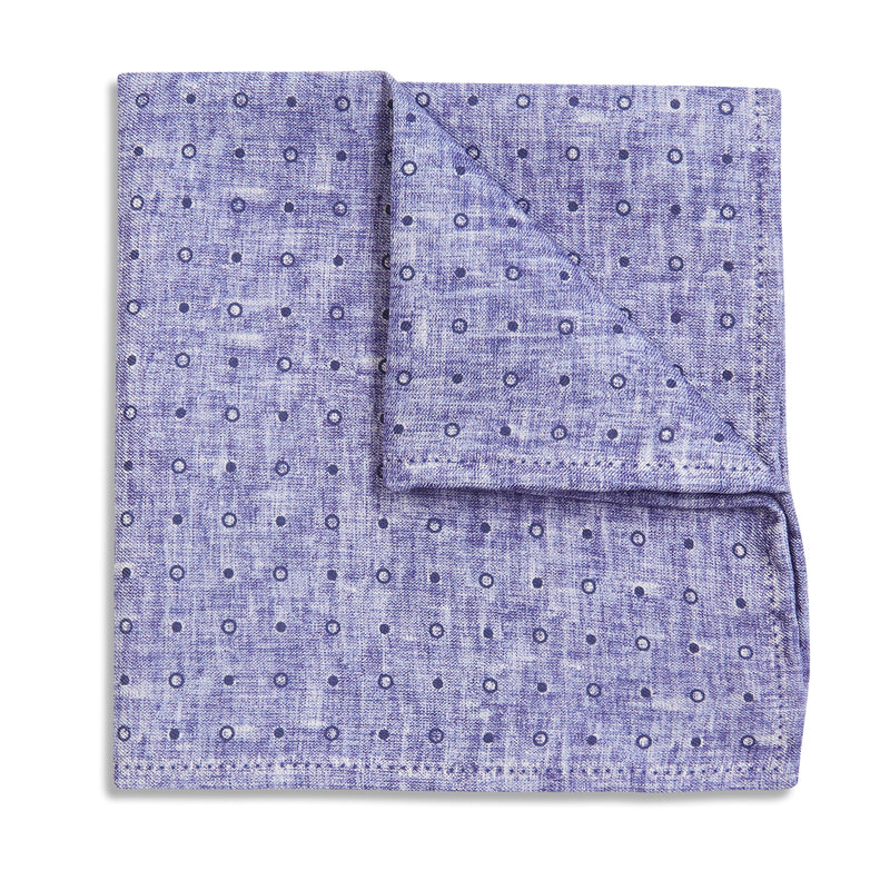 Rosi Collection Pocket Hanky - Polka Dot Purple - Burrows and Hare