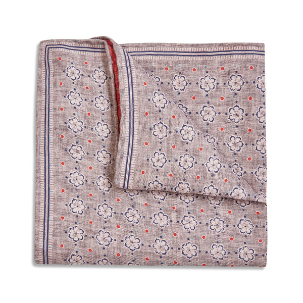 Rosi Collection Pocket Hanky - Floral Brown - Burrows and Hare