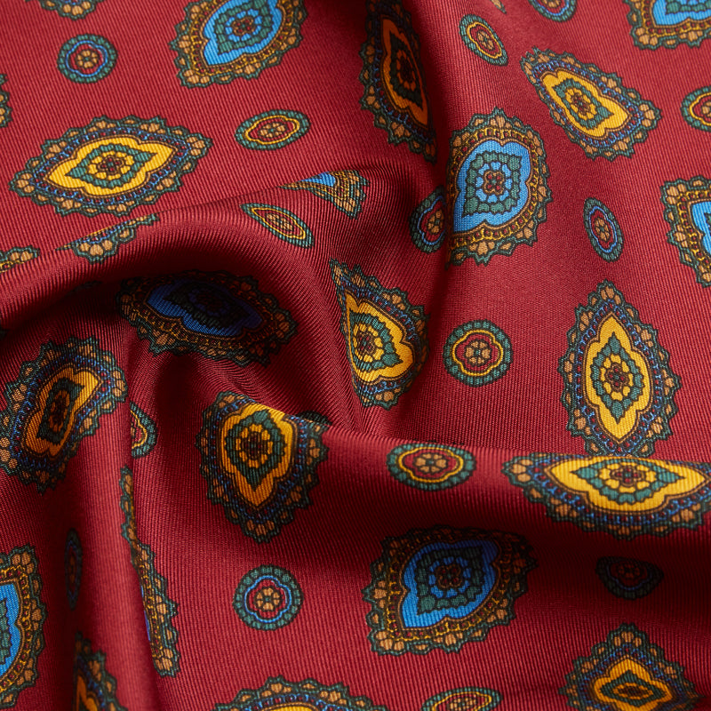 Burrows & Hare Pocket Hanky - Paisley Red - Burrows and Hare