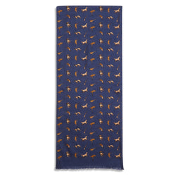 Burrows & Hare Silk Scarf - Hunting Navy - Burrows and Hare