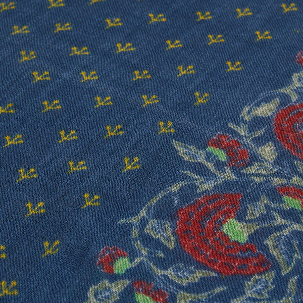 Hartford Scarf - Navy Rose - Burrows and Hare