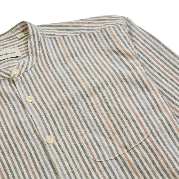 Oliver Spencer Grandad Shirt - Multi - Burrows and Hare