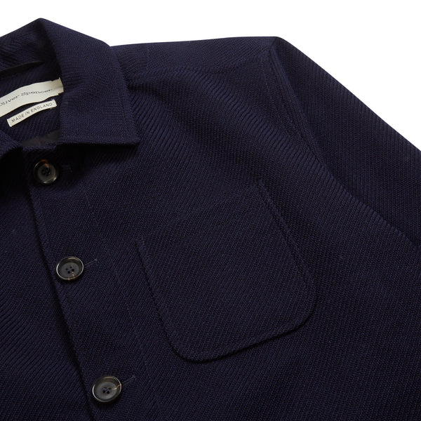 Oliver Spencer Cowboy Jacket - Buttress Navy - Burrows and Hare