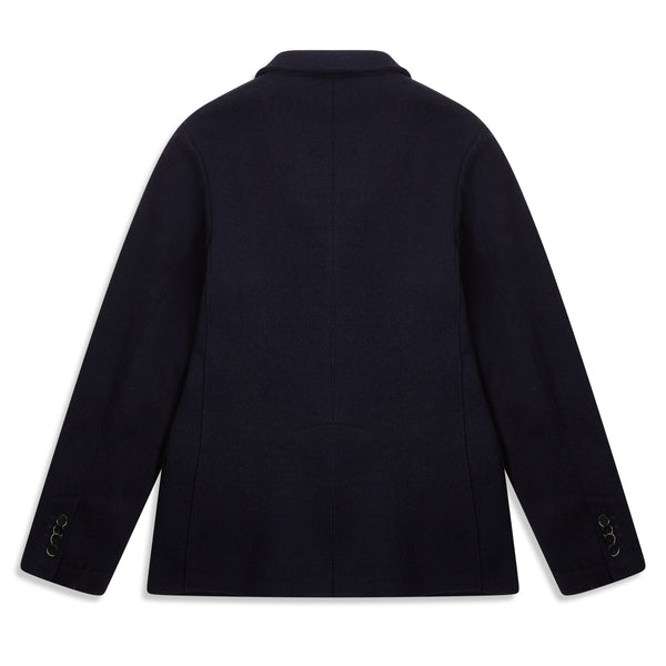 Barena Slanega Single Breasted Blazer - Navy - Burrows and Hare