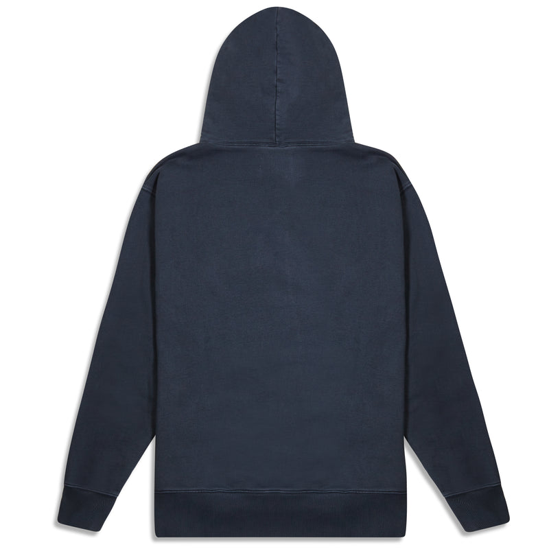 Nigel Cabourn Loopback Jersey Hoody - Navy - Burrows and Hare