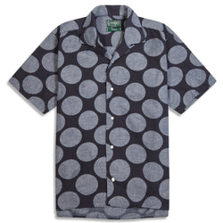 Gitman Bros. Dot Camp Shirt - Navy - Burrows and Hare